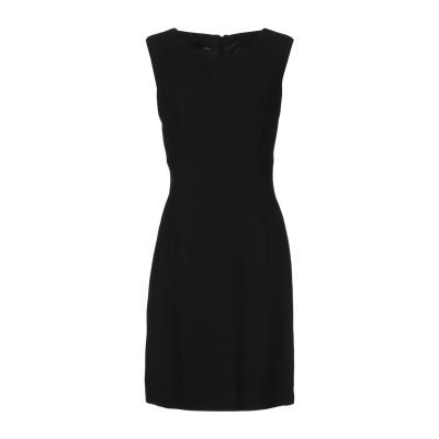 トネッロ TONELLO ミニワンピース&ドレス ブラック 44 バージンウール 100% ミニワンピース&ドレス