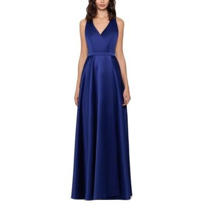 エックススケープ XSCAPE レディース パーティードレス ワンピース・ドレス Satin Ball Gown Royal Blue