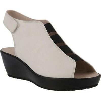スプリングステップ Spring Step レディース サンダル・ミュール ウェッジソール シューズ・靴 Connie Wedge Sandal White Leather