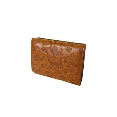 S.T.H 〔NEKOシリーズ〕四方口小銭入れの二つ折り財布 ZDQ-1164 (58201 ブラウン)