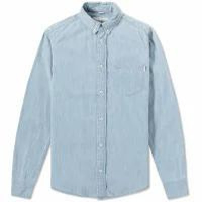 Carhartt メンズシャツ Blue Stone Bleached Carhartt Civil Shirt