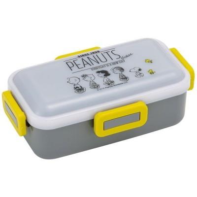 ランチボックス 1段お弁当箱 スヌーピー モノクロ 4点ロック 密閉式 電子レンジ 食洗器対応 日本製