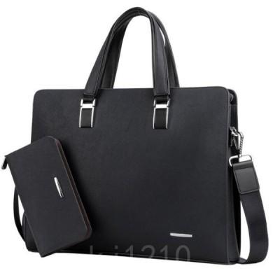 ビジネスバッグアタッシュケースショルダーバッグビジネストートメンズバッグ大容量PU通勤財布付きフォーマル出張2色