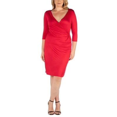 24セブンコンフォート レディース ワンピース トップス Women's Plus Size Dress