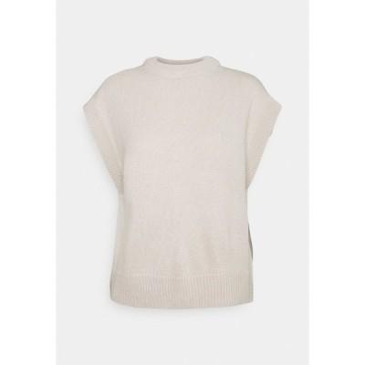 オンリー Tシャツ レディース トップス ONLMATILDA VEST - Basic T-shirt - pumice stone