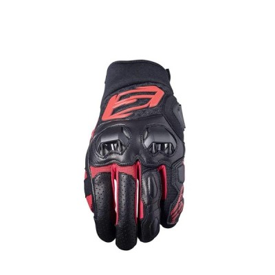 FIVE (ファイブ) バイクグローブSF3 BLACK RED (L) 1032040303