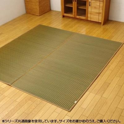 純国産 い草ラグカーペット 『Fリブロ』 グリーン 190×190cm 8228570    キャンセル返品不可 他の商品と同梱・同時購入不可