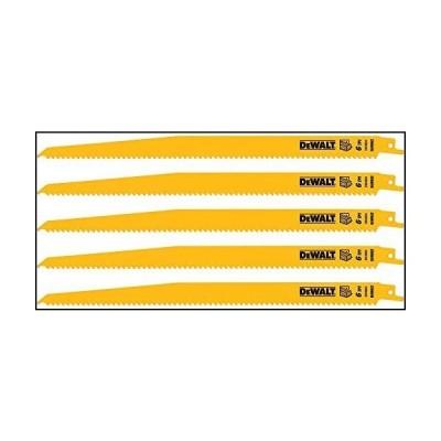 DEWALT Reciprocating Saw Blades, Bi-Metal, 12-Inch, 6 TPI, 5-Pack (DW4804)[並行輸入品]