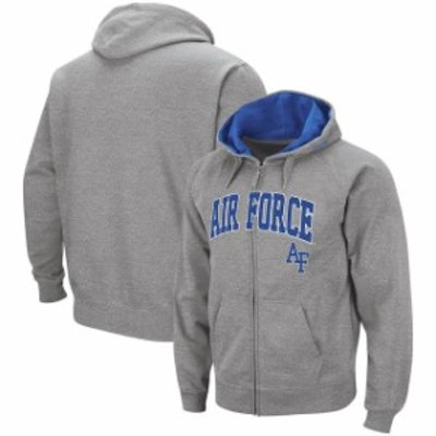 Colosseum コロセウム スポーツ用品  Colosseum Air Force Falcons Heathered Gray Arch & Logo Full-Zip Hoodie