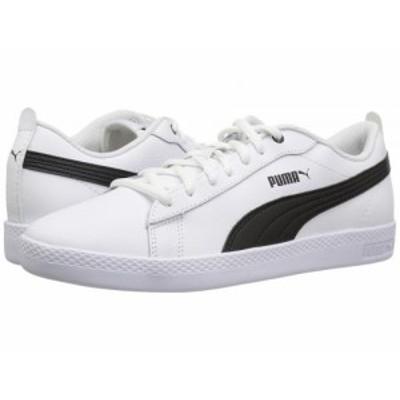 PUMA プーマ レディース 女性用 シューズ 靴 スニーカー 運動靴 Smash V2 L White/Black【送料無料】