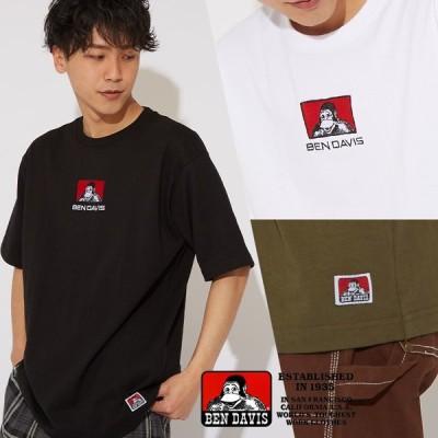 BEN DAVIS ベンデイビス Tシャツ メンズ 半袖Tシャツ ロゴ 半袖 カットソー 大きいサイズ クルーネック ベンデービス ブランド