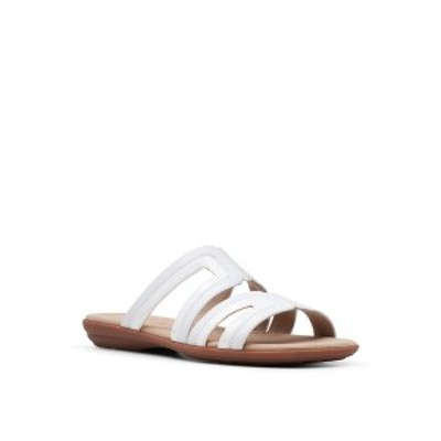 クラークス レディース サンダル シューズ Collection Women's Ada Lilah Wedge Sandals White Combo Leather/Synthetic