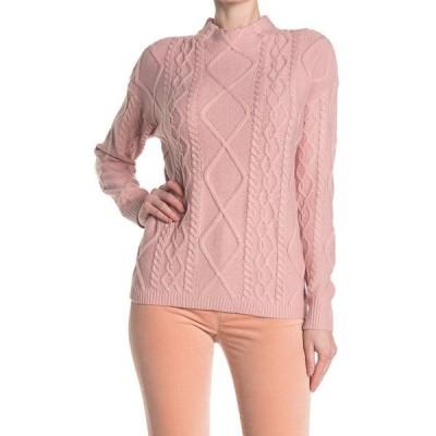 ラブバイデザイン レディース ニット&セーター アウター St. Moritz Textured Mock Neck Sweater BLUSH