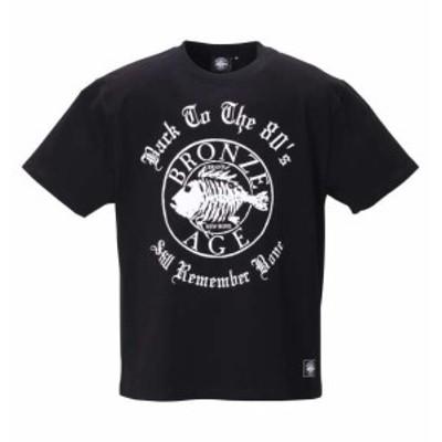 大きいサイズ メンズ BRONZE AGE ロゴ 半袖 Tシャツ ブラック 1278-0218-2 3L 4L 5L 6L 8L