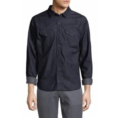 ヴィンス Men Clothing Western Denim Sport Shirt
