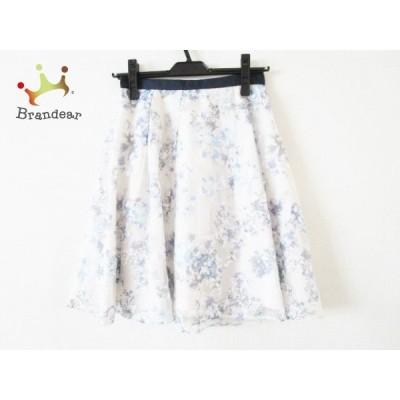 アプワイザーリッシェ スカート サイズ0 XS レディース 美品 ネイビー×アイボリー×マルチ   スペシャル特価 20200709