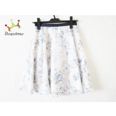 アプワイザーリッシェ スカート サイズ0 XS レディース 美品 ネイビー×アイボリー×マルチ  値下げ 20200704