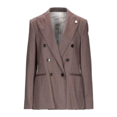 ラルディーニ LARDINI テーラードジャケット ダークブラウン 38 ウール 93% / シルク 7% テーラードジャケット