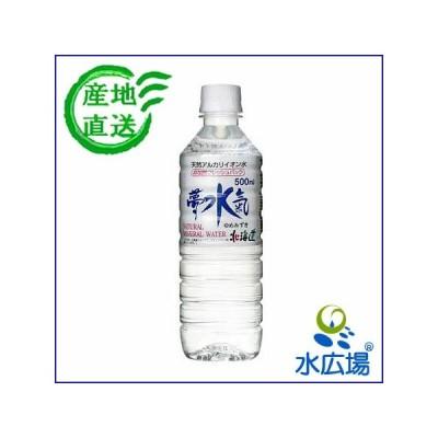 水 500ml 北海道の健康アルカリ天然水 夢水氣 500mLx24本 大沼国定公園のメーカーから産地直送 代引き不可