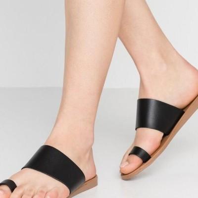オフィス レディース サンダル T-bar sandals - black