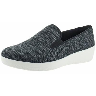 フラットシューズ フィット フロップ FitFlop Women's Superskate Uberknit Slip-On Textile Loafers Shoes