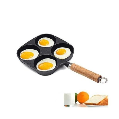 MAI&BAO エッグフライパン 鋳鉄 4グリッド フライドエッグクッキングパン 誘導パンケーキ オムレツパン