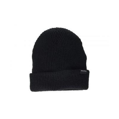 Nixon ニクソン メンズ 男性用 ファッション雑貨 小物 帽子 ビーニー ニット帽 Kos R Beanie - Black