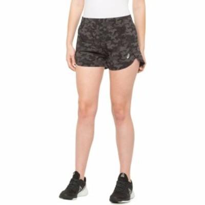 アシックス ASICS レディース ショートパンツ ボトムス・パンツ Woven Shorts - Built-In Briefs Dark Grey