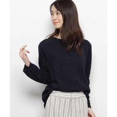 ニット 【ハンドウォッシュ】ペーパーヤーン混ニットプルオーバー