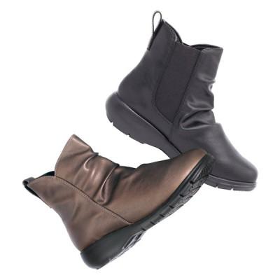 バッグ 靴 アクセサリー ブーツ ブーティ ショートブーツ RakkuRakku/ラックラック 空飛ぶやわらかストレッチブーツ C33502