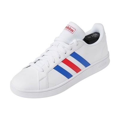 アディダス(adidas) メンズ レディース スニーカー グランドコート ベース GRANDCOURT BASE ホワイト/ブルー/アクティブレッド EOU26 EE7901 靴 シューズ