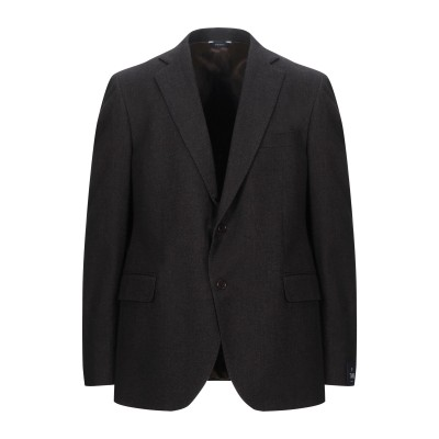 TOMBOLINI テーラードジャケット ダークブラウン 48 コットン 100% テーラードジャケット