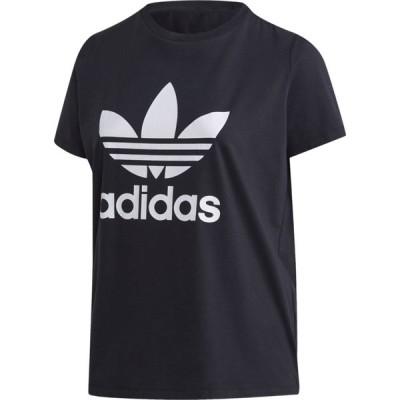 アディダス adidas Originals レディース Tシャツ 大きいサイズ トップス Plus Size Trefoil T-Shirt Black/White