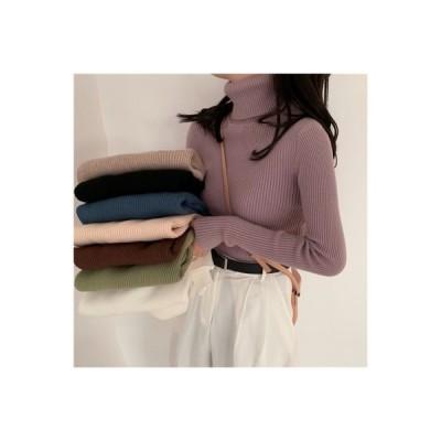 【送料無料】セーターの女性 荷重 年 秋冬 手厚い ハイカラーブラック ニット 着や | 364331_A63689-2648843