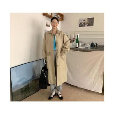 From Beginning レディース コート Band stadium trench coat