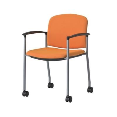 スタッキングチェア 肘付き キャスター 椅子 MC-500AC