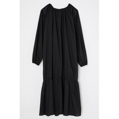 (moussy/マウジー)ORGANIC COTTON FLOWER ドレス/レディース BLK