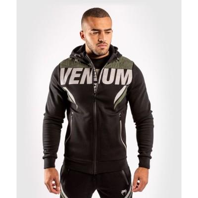 VENUM ジップアップパーカー VENUM×ONE FC IMPACT HOODIE (ブラック×カーキ) //フーディー メンズ スウェットパーカー ZIPパーカー 長袖パーカー 送料無料
