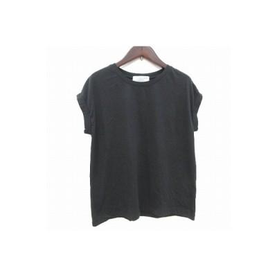 【中古】チャオパニック ティピー CIAOPANIC TYPY Tシャツ カットソー フレンチスリーブ クルーネック ONE 黒 ブラック /CT レディース 【ベクトル 古着】