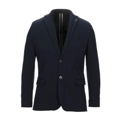AGO E FILO テーラードジャケット ダークブルー 50 ポリエステル 65% / ナイロン 30% / ポリウレタン 5% テーラードジャケ