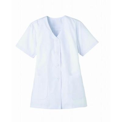 調理白衣 FA332 抗菌 レディース 半袖 飲食 調理服 調理 白衣 板前服 厨房服 厨房白衣 衿なし SerVo
