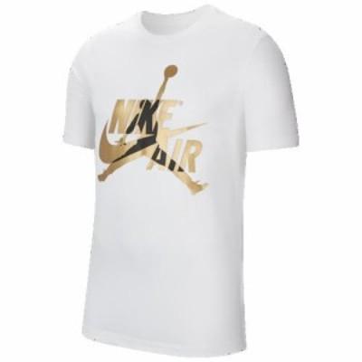 (取寄)ジョーダン メンズ クラシック クルー Tシャツ Jordan Men's Classics Crew T-Shirt White Metallic Gold