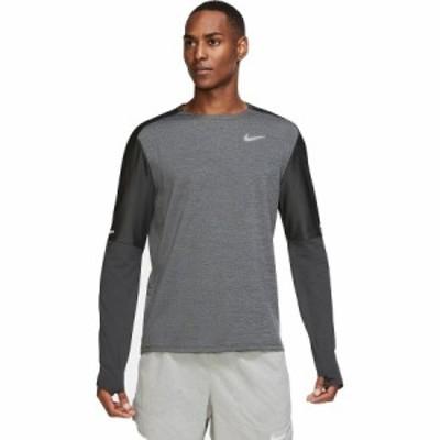 (取寄)ナイキ メンズ Dri-Fitエレメント クルー シャツ Nike Men's Dri-Fit Element Crew Shirt Dk Smoke Grey/Black/Reflective Silv
