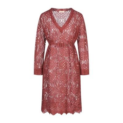MAESTA ミニワンピース&ドレス ココア 42 ナイロン 53% / コットン 47% ミニワンピース&ドレス