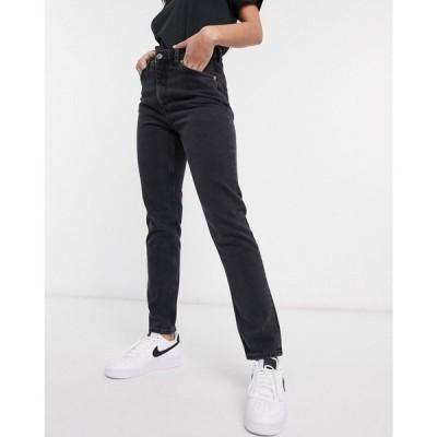 モンキ Monki レディース ジーンズ・デニム ボトムス・パンツ Kimomo high waist mom jeans with organic cotton in wash black ブラック