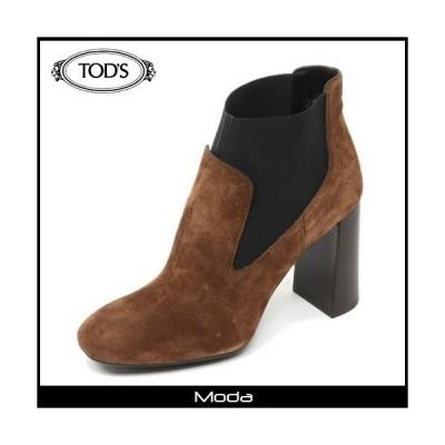 トッズ ブーツ レディース TOD'S 靴 ブラウンサイドゴアヒールショートブーツ
