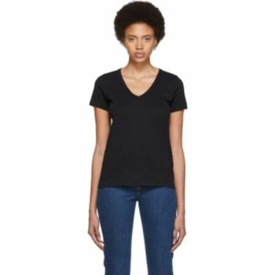 ラグ&ボーン rag & bone レディース Tシャツ トップス Black The Vee T-Shirt Black