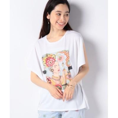 【デシグアル】 Tシャツショート袖 レディース ホワイト系 S Desigual