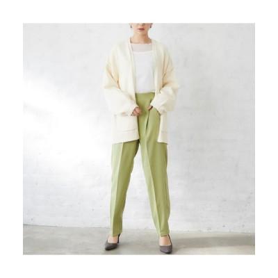 【シルキー】 センタープレススラックスパンツ レディース ライト グリーン Mサイズ Silky