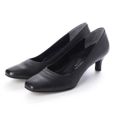 ワシントンフットハッピー WASHINGTON Foot Happy 850-F55131 3Eベーシックパンプス (ブラック)